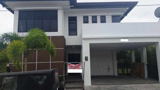 4 Bedroom furnished house with swimming pool for rent - P120K - 0