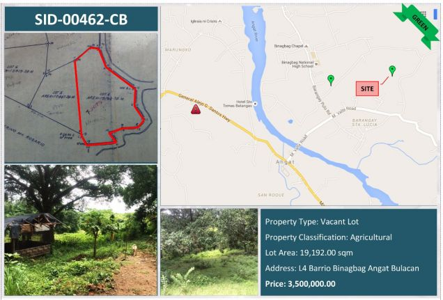 Reference No SID-00462-CB-0 Agricultural Lot For Sale in Angat Bulacan - 0