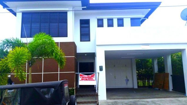 Furnished House With Pool For Rent In Angeles City - 0