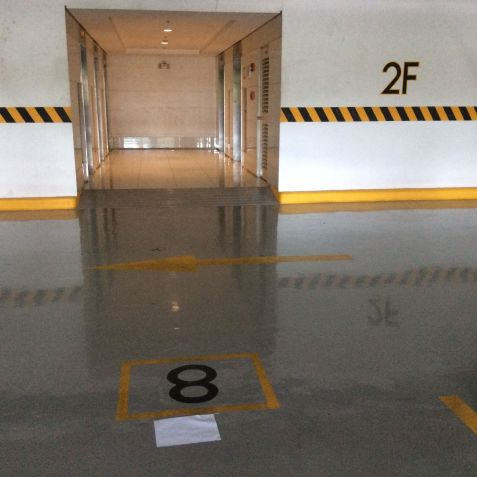 For Rent: Parking Slot #8 Right In Front Of The Elevator Area, Blue Residences, Katipunan, Quezon City - 0