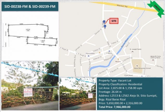 Agricultural Lot For Sale in Baras Rizal - 0