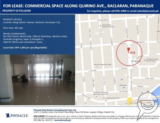 P3116559 For Lease commercial space along Quirino Ave. Baclaran, Pque - 0