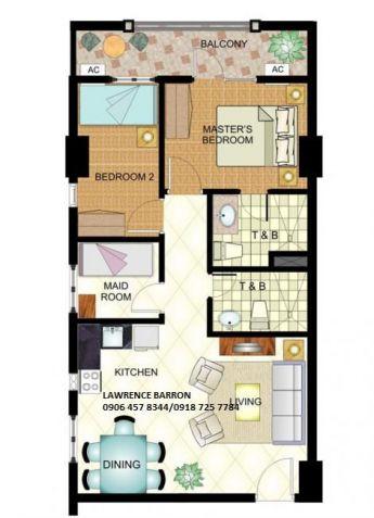 3bedrooms condo 6.1M 78sqm near in BGC Mckinley SM Aura and Market2x  RFO - 2
