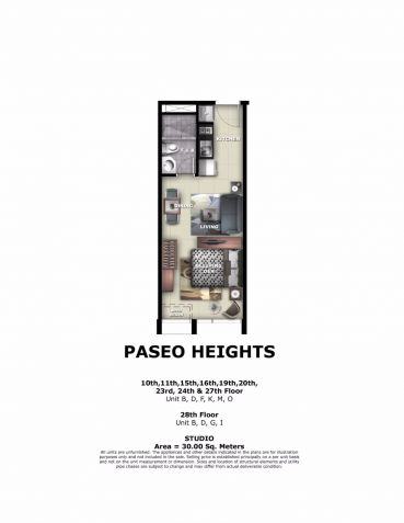 For Sale Pre-Furnished Studio Unit in Paseo Heights across Salcedo Park - 3