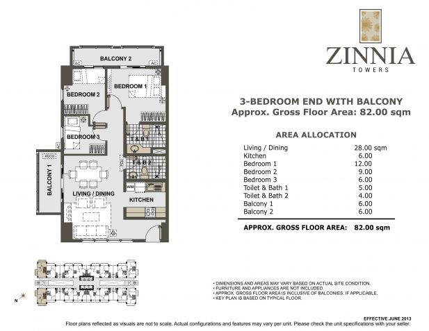 For Sale Zinnia Towers 3 BR Condo in Quezon City near SM North - 7