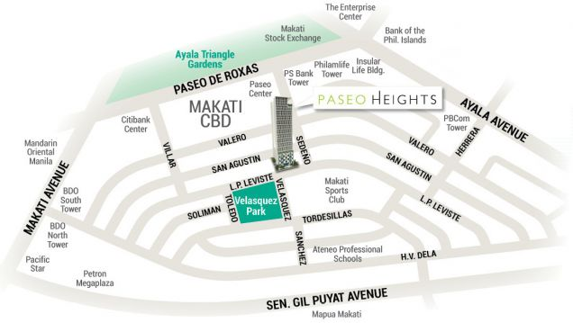 For Sale Pre-Furnished Studio Unit in Paseo Heights across Salcedo Park - 1