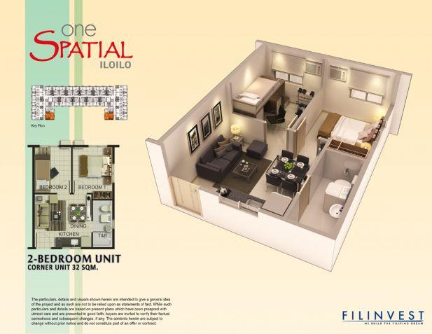 One Spatial Iloilo, 32 sqm, 2 Bedroom for Sale, Iloilo, Filinvest Land Inc - 6