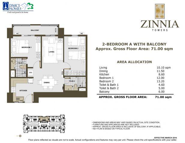 2 bedroom with 2bathroom Rizal RFO Zinnia towers facing Makati Skyline - 3