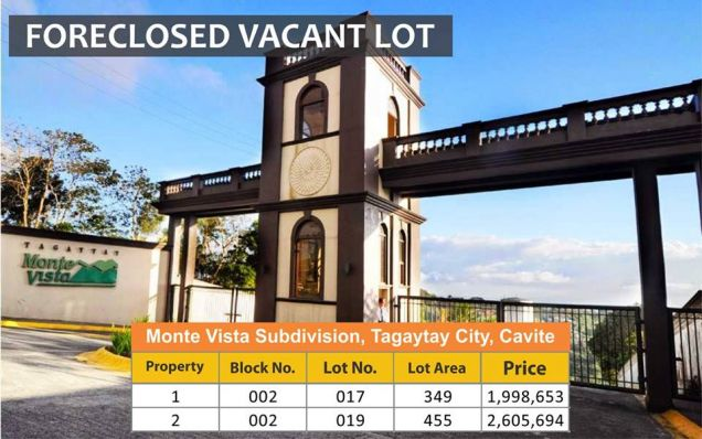 Lots For Sale in Monte Vista Subdivision, Tagaytay City, Cavite - 0