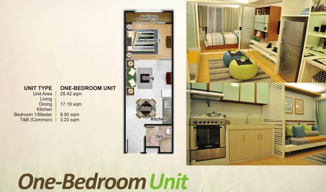 One Oasis Ortigas, 1 Bedroom Unit for Sale, Pasig, Filinvest Land Inc. - 3