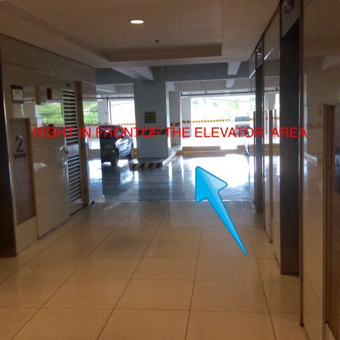 For Rent: Parking Slot #8 Right In Front Of The Elevator Area, Blue Residences, Katipunan, Quezon City - 2