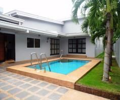 3 Bedroom Furnished Bungalow House and Lot with Pool for Rent - 0