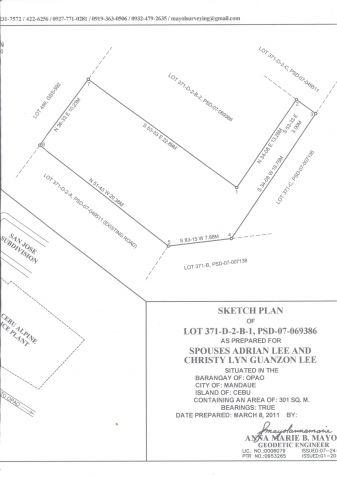 San Jose Village OpaoMandaue City corner lot  390 sqm - 2