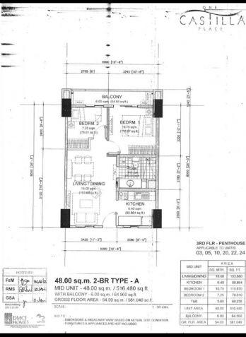 One Castilla Place 2 br in QC near Greenhills, Ortigas Center,Robinsons Galleria - 8