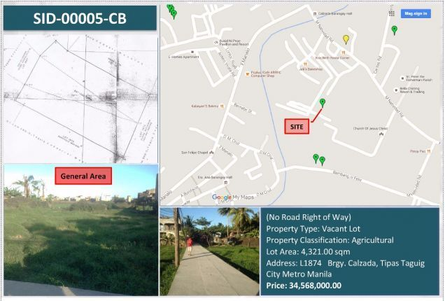Agricultural Lot For Sale in Taguig - 0