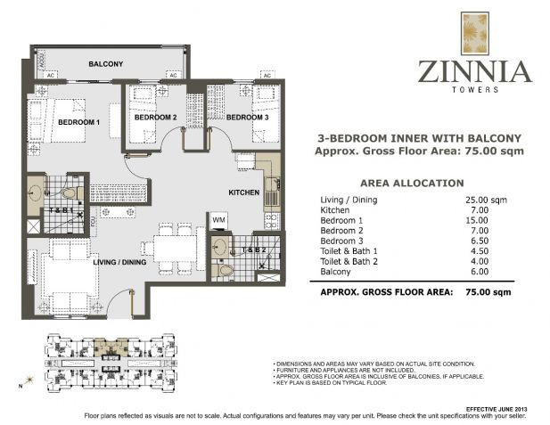 For Sale Zinnia Towers 3 BR Condo in Quezon City near SM North - 8