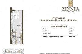 For Sale Studio in Zinnia towers 10percent downpayment in 6months RFO - 3